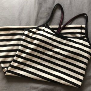 Lululemon Striped racerback tank, pads included